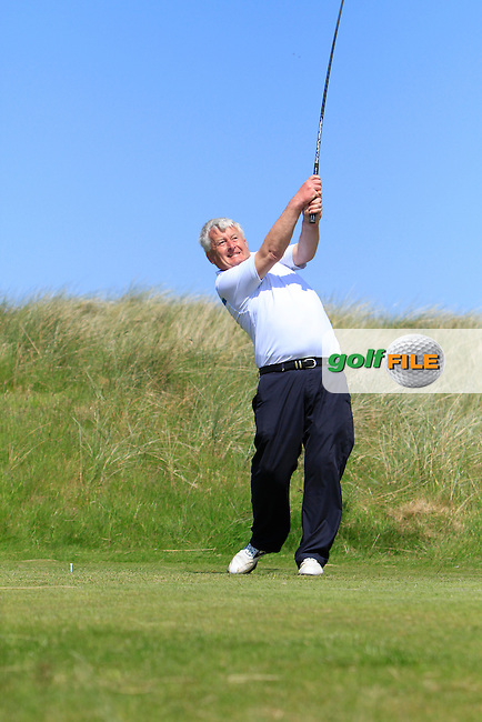 Francis Reynolds (Tramore) on the 13th tee during Round 2 of the Irish Seniors Amateur Open Championship in the Waterville Golf Club on Thursday 29th May 2014.<br /> Picture:  Thos Caffrey / www.golffile.ie