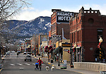 F Street in downtown Salida is the central hub of the historic district in Salida. Michael Brands for The New York Times.