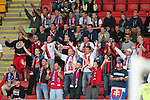 St Johnstone v FC Spartak Trnava...31.07.14  Europa League 3rd Round Qualifier<br /> Spartak Trnava fans<br /> Picture by Graeme Hart.<br /> Copyright Perthshire Picture Agency<br /> Tel: 01738 623350  Mobile: 07990 594431