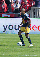 April 27, 2013: New York Red Bulls forward Thierry Henry #14 in action during a game between Toronto FC and the New York Red Bulls at BMO Field  in Toronto, Ontario Canada..The New York Red Bulls won 2-1.