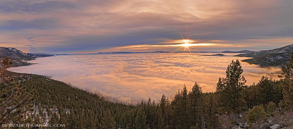 Sunset over Fog, Lake Tahoe