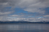 """Lake Tahoe 1"" - This photograph of a cloudy day was photographed from a small fishing boat on the West shore of Lake Tahoe."