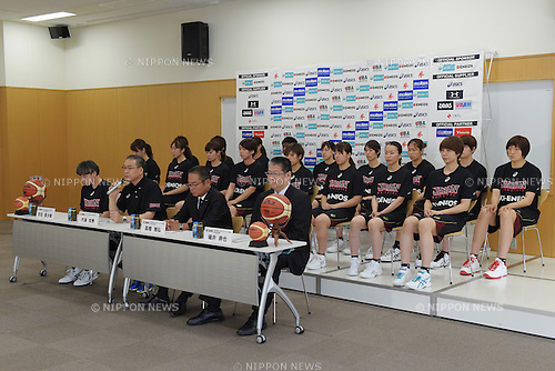 Japan women's team (JPN),<br /> June 10, 2015 - Basketball : <br /> Japan women's national team training session for 2015 FIBA Asia Championship for Women<br /> at Ajinomoto National Training Center, Tokyo, Japan. <br /> (Photo by Shingo Ito/AFLO SPORT)
