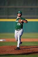 Daytona Tortugas starting pitcher Jonathon Crawford (23) delivers a warmup pitch during a game against the Florida Fire Frogs on April 6, 2017 at Osceola County Stadium in Kissimmee, Florida.  Daytona defeated Florida 3-1.  (Mike Janes/Four Seam Images)