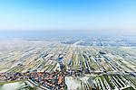 Nederland, Noord-Holland, gemeente Schermer, 28-10-2016; het dorp Grootschermer en de Eilandspolder. In de achtergrond de Beemster. Winterlandschap.<br /> The village Grootschermer and Eilandspolder. In the background polder the Beemster. Winter Landscape<br /> <br /> luchtfoto (toeslag op standard tarieven);<br /> aerial photo (additional fee required);<br /> copyright foto/photo Siebe Swart