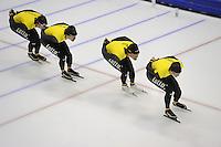 SCHAATSEN: HEERENVEEN: 24-10-2014, IJsstadion Thialf, Topsporttraining Team LottoNL - Jumbo, Hein Otterspeer, Wouter olde Heuvel, Kjeld Nuis, Sven Kramer, ©foto Martin de Jong