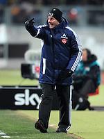FUSSBALL   1. BUNDESLIGA  SAISON 2011/2012   20. Spieltag 1. FC Nuernberg - Borussia Dortmund         03.02.2012 Trainer Dieter Hecking (1 FC Nuernberg)