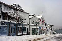 Main Street, Bar Harbor Winter  #S40