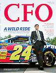 CFO magazine cover story - Hendrick MotorSports CFO . shot on location in North Carolina : Tearsheets by San Francisco Bay Area - corporate and annual report - photographer Robert Houser. 2006 pictures.