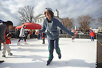 Eli Waxler skates on synthetic ice in Oxford, Miss. on Saturday, December 15, 2012.