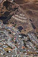 aerial photograph South San Francisco, San Mateo county, California