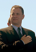Washington, D.C. - May 29, 2004 -- Actor Tom Hanks at the dedication of the World War Two Memorial in Washington, D.C. on May 29, 2004..Credit: Ron Sachs / CNP