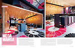 Interiors and architecture photography editorial story: Kinoya Restaurant in Montreal by interior designer Jean De Lessard published in Nov/Dec issue of Azure Magazine