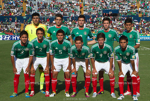 U-17U-17 Mexico team group line-up (MEX), JUNE 24, 2011 - Football : 2011 FIFA U-17 World Cup Mexico Group A match between Mexico 3-2 Netherlands at Estadio Universitario in Monterrey, Mexico. (Photo by MEXSPORT/AFLO)