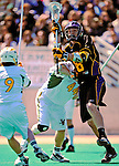 19 April 2009: University at Albany Great Dames' Attackman Brain Caufield, a Sophomore from Bay Shore, NY, in action against the University of Vermont Catamounts at Moulton Winder Field in Burlington, Vermont. The Danes defeated the Cats 9-6 in Vermont's last home game of the 2009 season. Mandatory Photo Credit: Ed Wolfstein Photo