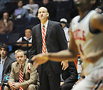 "Ole Miss head coach Andy Kennedy vs. McNeese State at the C.M. ""Tad"" Smith Coliseum in Oxford, Miss. on Tuesday, November 20, 2012. Ole Miss won 76-50 to improve to 4-0..."