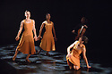 London, UK. 26.05.2016. dotdotdot dance present new work as a Wild Card in the Lilian Baylis Studio, Sadler's Wells. dotdotdot dance is a new company of three young British dancers who have fallen in love with flamenco. Magdalena Mannion, yinka Esi Graves and Noemi Luz all trained in different dance styles before adopting this art form. Picture shows: Noemi Luz, Yinka Esi Graves, Magdalena Mannion. Photograph © Jane Hobson.