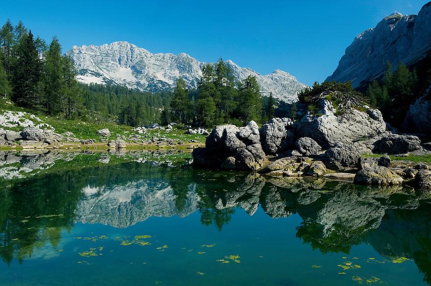 First Double Lake (Dvojno jezero) <br /> Triglav National Park, Slovenia<br /> August 2009