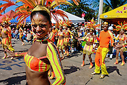 Colombian girls dance during the Carnival in Barranquilla, Colombia, 25 February 2006. The Carnival of Barranquilla is a unique festivity which takes place every year during February or March on the Caribbean coast of Colombia. A colourful mixture of the ancient African tribal dances and the Spanish music influence - cumbia, porro, mapale, puya, congo among others - hit for five days nearly all central streets of Barranquilla. Those traditions kept for centuries by Black African slaves have had the great impact on Colombian culture and Colombian society. In November 2003 the Carnival of Barranquilla was proclaimed as the Masterpiece of the Oral and Intangible Heritage of Humanity by UNESCO.