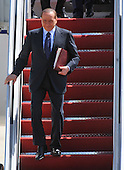 Italian Prime Minister Silvio Berlusconi arrives for the Nuclear Security Summit, at Andrews Air Force Base, Maryland, April 12, 2010.  .Credit: Kevin Dietsch / Pool via CNP
