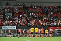 Omiya Ardija team group,..AUGUST 7, 2011 - Football / Soccer :..Omiya Ardija players look dejected as they acknowledge fans after the 2011 J.League Division 1 match between Omiya Ardija 2-2 Vegalta Sendai at NACK5 Stadium Omiya in Saitama, Japan. (Photo by Hiroyuki Sato/AFLO)