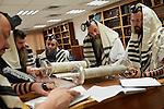 Ra'anana. Morning prayer at the synagogue of Chabad Lubavich.