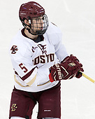 Casey Fitzgerald (BC - 5) - The Boston College Eagles defeated the visiting Colorado College Tigers 4-1 on Friday, October 21, 2016, at Kelley Rink in Conte Forum in Chestnut Hill, Massachusetts.The Boston College Eagles defeated the visiting Colorado College Tiger 4-1 on Friday, October 21, 2016, at Kelley Rink in Conte Forum in Chestnut Hill, Massachusett.
