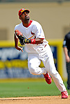 14 March 2007: St. Louis Cardinals shortstop Jolbert Cabrera in the action against the Washington Nationals at Roger Dean Stadium in Jupiter, Florida...Mandatory Photo Credit: Ed Wolfstein Photo