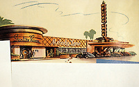 Drive-In's :  Melody Lane, Wilshire and Western, Los Angeles. Late 30's.  Starlite Room, cocktail lounge, coffee shop.