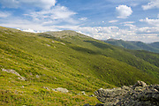 Mount Washington from Caps Ridge Trail in Thompson and Meserves Purchase, New Hampshire USA during the spring months.