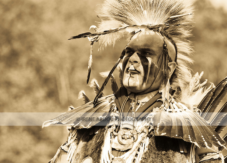 Keith Anderson dances in full traditional regalia at the 8th Annual Redwing PowWow in Virginia Beach, Virginia.
