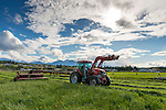 The first hay is cut in April on Freedom Farms pasture.