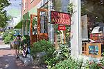 Summertime on the main street (Rte 1) Wiscasset, Maine