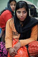 Dehradun, India.  Indian Muslim Woman with Nose Ring.