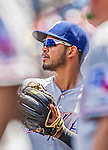 1 June 2014: Texas Rangers infielder Luis Sardinas in the dugout during a game against the Washington Nationals at Nationals Park in Washington, DC. The Rangers shut out the Nationals 2-0 to salvage the third the third game of their 3-game inter-league series. Mandatory Credit: Ed Wolfstein Photo *** RAW (NEF) Image File Available ***