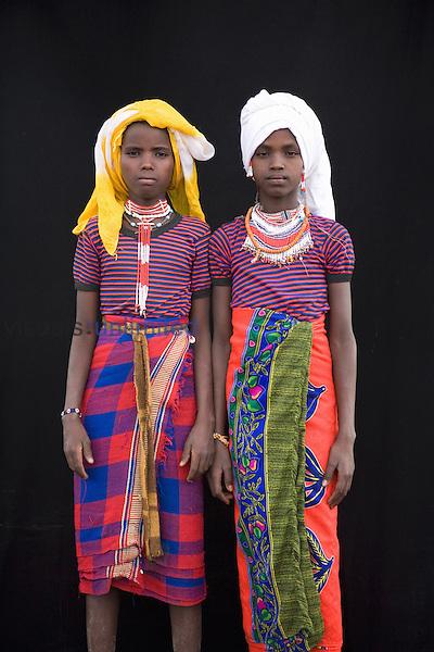 Portrait of villagers in Awash, Afar region in Ethiopia