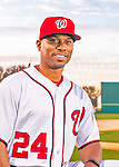 28 February 2016: Washington Nationals Assistant Hitting Coach poses for his Spring Training Photo-Day portrait at Space Coast Stadium in Viera, Florida. Mandatory Credit: Ed Wolfstein Photo *** RAW (NEF) Image File Available ***