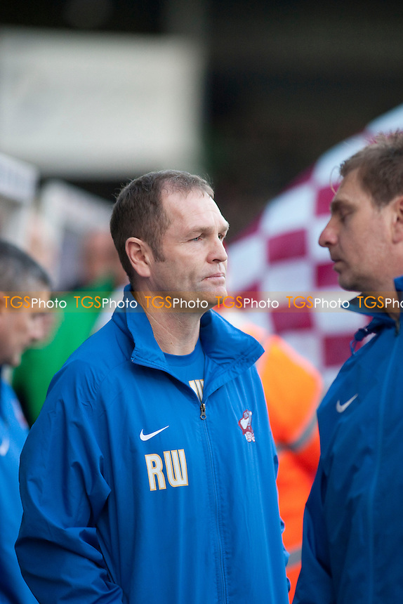 Russ Wilcox Scunthorpe manager<br />  - Scunthorpe United vs Morecambe - Sky Bet League Two Football at Glanford Park, Scunthorpe - 21/12/13 - MANDATORY CREDIT: Mark Hodsman/TGSPHOTO - Self billing applies where appropriate - 0845 094 6026 - contact@tgsphoto.co.uk - NO UNPAID USE
