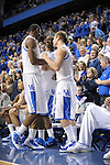 UK's Terrence Jones is congratulated after coming out of the game with 35 points and 8 rebounds during the University of Kentucky Men's basketball game against Auburn at Rupp Arena in Lexington, Ky., on 1/11/11. Uk won the game 78-54. Photo by Mike Weaver   Staff