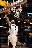 Patrick Christopher goes up for the dunk. The California Golden Bears defeated the Oregon Duck 90-74 during the Pacific Life Pac-10 Conference Tournament at Staples Center in Los Angeles, California on March 11th, 2010. The Bears will face UCLA tomorrow at 6pm PST.