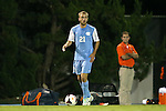18 October 2013: North Carolina's Cooper Vandermaas-Peeler. The University of North Carolina Tar Heels hosted the Syracuse University Orangemen at Fetzer Field in Chapel Hill, NC in a 2013 NCAA Division I Men's Soccer match. UNC won the game 1-0.