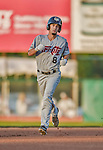 20 August 2015: Tri-City ValleyCats outfielder Aaron Mizell rounds the bases after hitting a solo home run in the first inning against the Vermont Lake Monsters at Centennial Field in Burlington, Vermont. The Stedler Division-leading ValleyCats defeated the Lake Monsters 5-2 in NY Penn League action. Mandatory Credit: Ed Wolfstein Photo *** RAW Image File Available ****