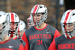 09 May 2015: Ohio State's Jarret Hassfeld. The Duke University Blue Devils hosted the Ohio State University Buckeyes at Koskinen Stadium in Durham, North Carolina in a 2015 NCAA Division I Men's Lacrosse Tournament First Round match. Ohio State won the game 16-11.