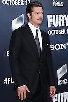 WASHINGTON, DC, USA - OCTOBER 15: Brad Pitt arrives at the Washington DC Premiere Of Sony Pictures' 'Fury' held at The Newseum on October 15, 2014 in Washington, DC, United States. (Photo by Jeffery Duran/Celebrity Monitor)