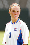 24 July 2005: Iceland's Erna Sigurdardottir, pregame. The United States defeated Iceland 3-0 at the Home Depot Center in Carson, California in a Women's International Friendly soccer match.