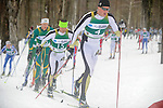 11 MAR 2011: Teammates Vegard Kjoelhamar (4) and Reid Pletcher (15) of the University of Colorado during the men's 20km Classical Cross Country race during the 2011 NCAA Men and Women's Division I Skiing Championship held Stowe Mountain Resort and Trapp Family Lodge in Stowe, VT. Pletcher placed first to win the national title, Kjoelhamar placed 3rd to take bronze. ©Brett Wilhelm/NCAA Photos