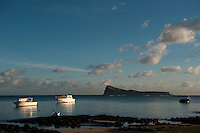 Mauritius. The island Gunners Quoin or Coin De Mire. from Cap Malheureux.