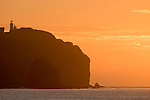 Anacapa Island, Channel Islands National Park and National Marine Sanctuary, California; sunrise over the east end of East Anacapa Island and the lighthouse , Copyright © Matthew Meier, matthewmeierphoto.com All Rights Reserved