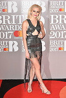 Pixie Lott <br /> The Brit Awards at the o2 Arena, Greenwich, London, England on February 22, 2017.<br /> CAP/PL<br /> &copy;Phil Loftus/Capital Pictures /MediaPunch ***NORTH AND SOUTH AMERICAS ONLY***