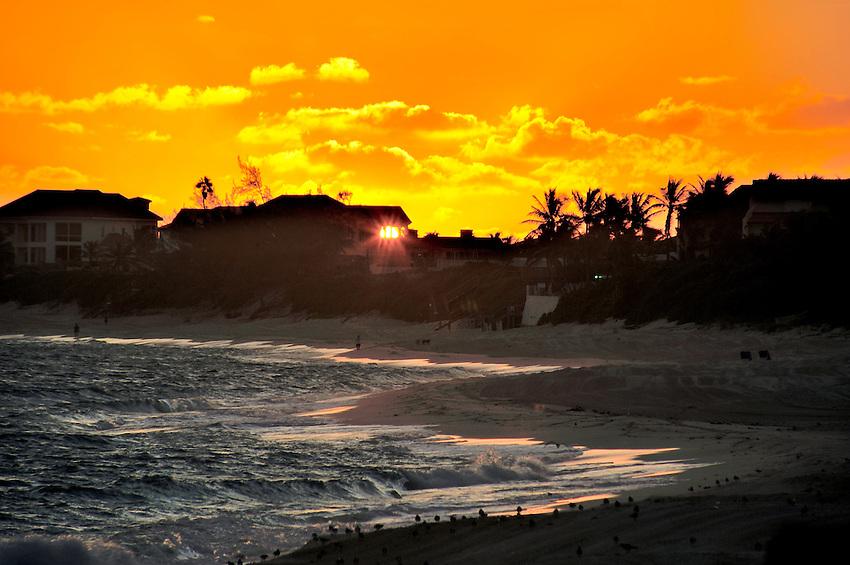 Sunrise from Sunrise Beach, Paradise Island, Nassau, The Bahammas